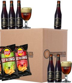 Gouden Carolus Whisky Infused Giftpack 6x33cl + Glazen & Gratis Lays Strong Chips