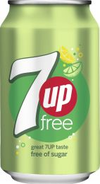 7up Sugar free blik 24x330 ml