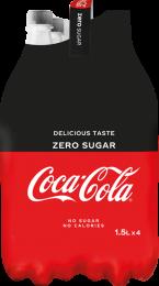 Coca Cola ZERO SUGAR voordeelpakken 4x1,5L