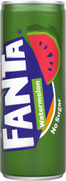 Fanta Watermelon No sugar frisdrank blik 25cl