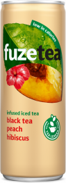 Fuze tea Black Tea peach hibiscus blik 250 ml