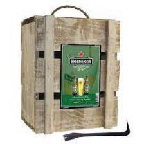Heineken Geschenk Kist 4 x 25cl + Glas