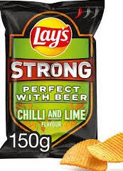 Lay's Strong Chills and Lime zak 150gr