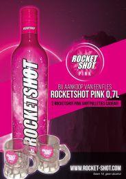 Rocketshot Pink + gratis Shotglaasjes