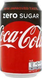 Coca Cola Zero Blikjes tray 24x33cl goedkoop coca cola
